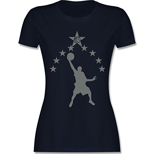 Basketball - Basketball - tailliertes Premium T-Shirt mit Rundhalsausschnitt für Damen Navy Blau