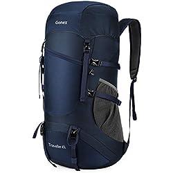 Gonex 45L Sac à Dos Randonnée Sac de Trekking Sac Pliable Léger Camping Sport Bivouac Voyage Bagage Cabine