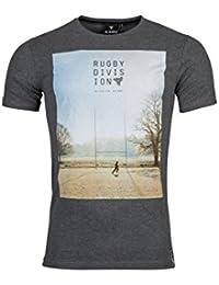 TMC Practice - T-Shirt de Rugby Graphique - Gris Foncé