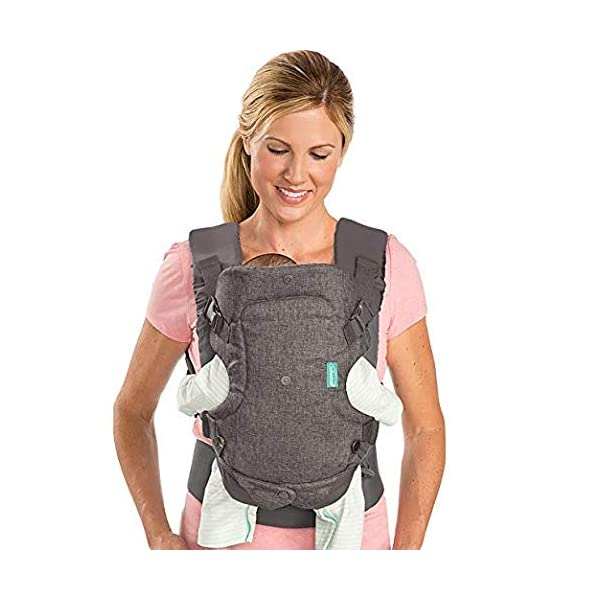 Infantino Flip Advanced 4-in-1 Convertible Baby Carrier, Light Grey Infantino Fully safety tested Carry children from 3.6-14.5 kgs 5
