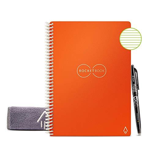 Rocketbook Smart Cuaderno Reutilizable, Naranja, Beacon Orange, forrado, Executive A5