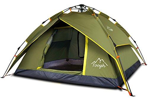 Toogh Tente campagne étanche famille, 2-3 personnes, Etanche Pop-up instantanée pour Camping...