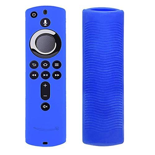 Kompatibel mit Amazon Fire TV Stick 4K TV-Stick-Fernbedienung Hülle,Colorful 2 Pack Leichte rutschfeste Stoßfeste Silikon Schutzhülle für Fire TV Stick 4K TV-Stick-Fernbedienung (Blau)