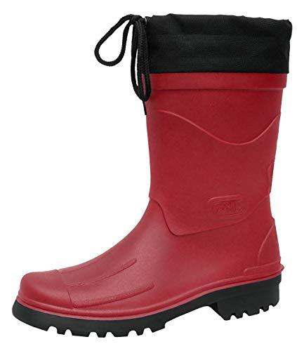 Bockstiegel Herren Gummistiefel Regenstiefel Nils, Farbe:Rot, Schuhgröße:EUR 41, Artikel:-6090 Rot/Schwarz -