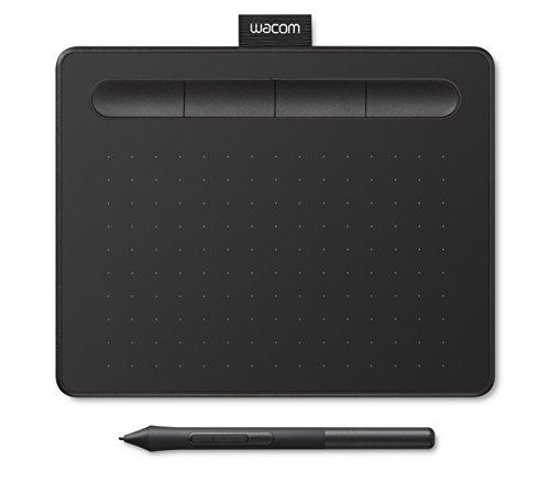 Wacom Intuos Stift-Tablett (Größe: S, Small Grafik, inkl. 1 Kreativ-Software zum Download und präzisem 4k Stift, Kompatibel mit Windows und Mac) schwarz
