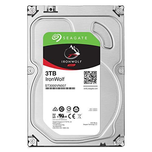 Seagate ST3000VNZ07 IronWolf Interne Festplatte (3,5 Zoll / 8,9 cm, 3 TB, für NAS-Systeme mit 1 - 8 Bay), silberfarben