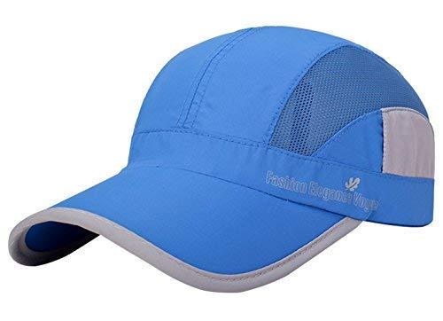 AIVTALK Unisex Bindung Mesh Baseball Cap Running Golf Sports Sun Hüte Quick Dry Leicht Ultra dünn-Licht Baseball Hat, Damen Mädchen Jungen Herren, Hellblau, Einheitsgröße Low-profile-mesh-hüte