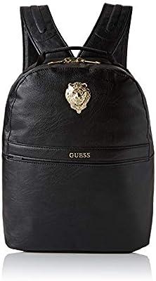 GuessCity Lion Compact BackpackHombreMochilasMulticolor (Black/Gold)16x39.5x30.5 centimeters (W x H x L)