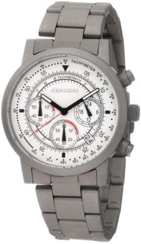 CEPHEUS - CP504-181 - Montre Homme - Quartz - Chronographe - Chronomètre - Bracelet Acier Inoxydable gris