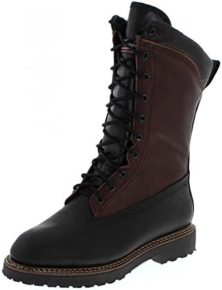 Botas americanas – Botas Western bo-5042-eee (pie fuerte) – hombre – Piel – Marrón/Negro