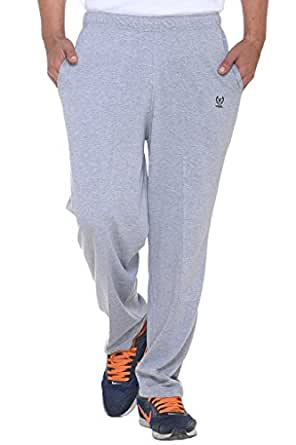 Vimal Men's Cotton Trackpant (Grey, Small)