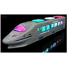 WolVol Tren eléctrico hermoso juguete con luces intermitentes y música, y de los cambios en las direcciones de contacto: gran regalo juguetes para niños