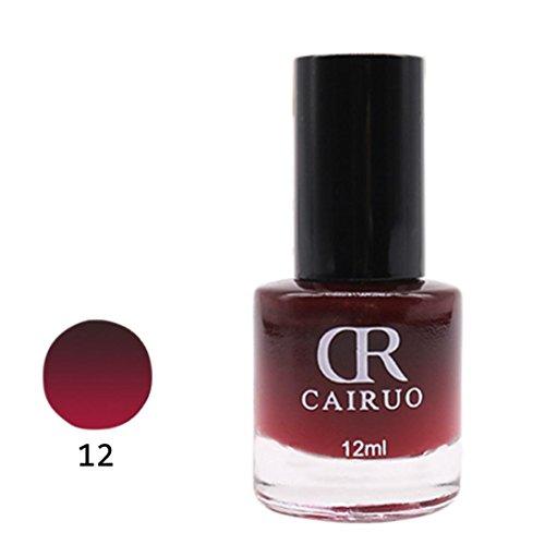 Zarupeng 12ml Thermo Effekt Nagellack Farbwechsel, Chrom Effekt Nail Polish Nude Nagel-Öl 26 Farbe (One Size, L)