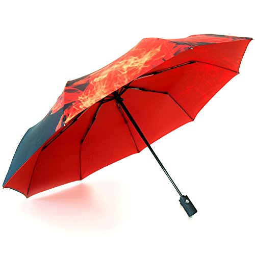 fibonic-easy-touch-automatic-travel-umbrella-compact-lightweight-for-rain-or-sun-210t-pongee-fabric-