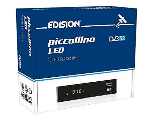 Edision piccollino LED Full HD SAT Receiver (DVB-S2, HDTV, HDMI, SCART, 2x USB 2.0, Lan, lettore di schede)