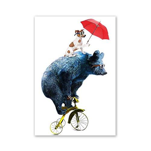 Amphia - Animal Leinwand.Moderne nordische Tierart Segeltuch Art Poster Print Wall Picture Home - Superwoman Arten Von Kostüm
