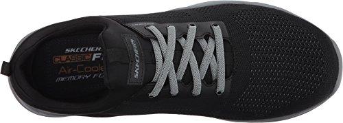 Skechers Herren LarsonNerick Low-Top Black Gray Knitted Mesh