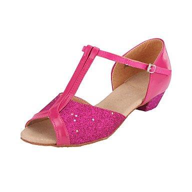 Calma Dança Elegante Do Ouro cinta Sapatos Espumante De Miúdo T Senhoras Brilho Latina Salão De dU7tqd