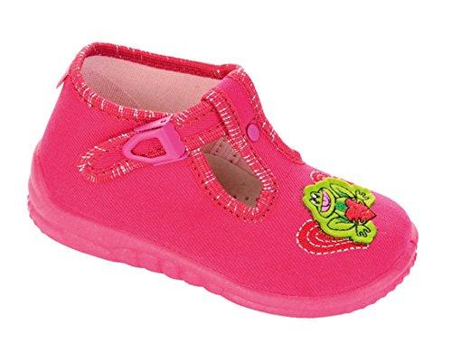 LEMIGO Kinder Hausschuhe Freizeitschuhe SANDRA pink-2