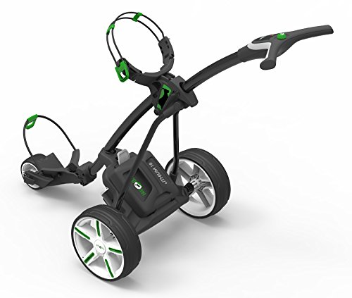 Hill Billy Electric Golf Trolley Cart Green trim inc 18-hole Lithium Battery and Charger