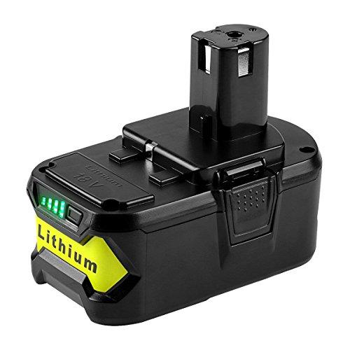 Powilling 18V 5,0Ah Li-Ion Batteria per Ryobi ONE+ P108 P107 P122 P104 P105 P102 P103 Batteria di Ricambio