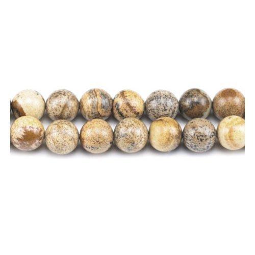 Charming beads filo 45+ beige chiaro diaspro immagine 8mm tondo liscio perline - (gs1647-3)