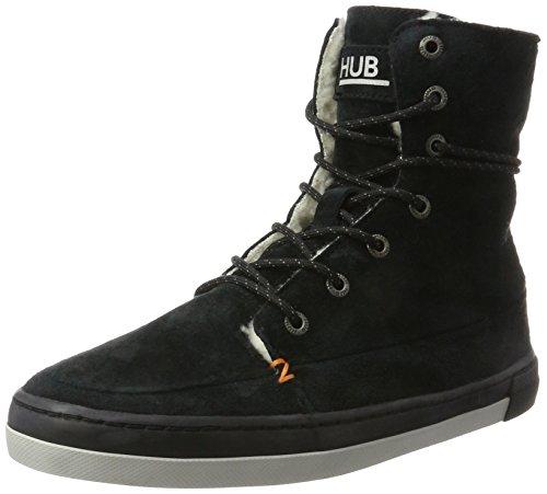 Hub Damen Vermont High N30 Hohe Sneaker Schwarz (Black/Black-Neutral Grey)