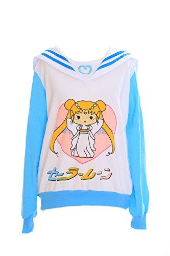 Kawaii-Story T-501 Sailor Moon Chibiusa Sweat pour cosplay de manga Bleu