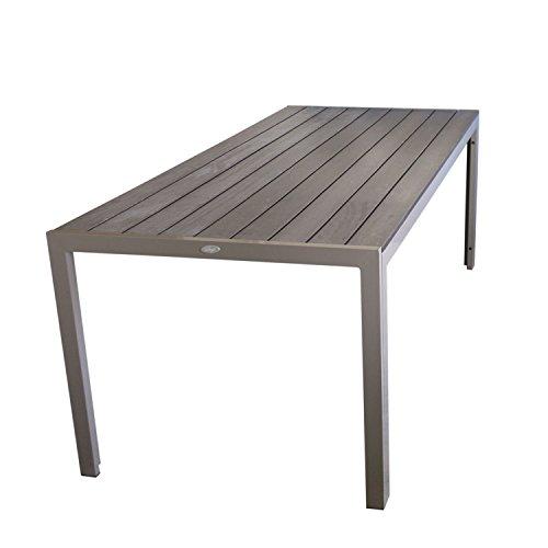 Wohaga® Esszimmertisch  Gartentisch Aluminiumgestell