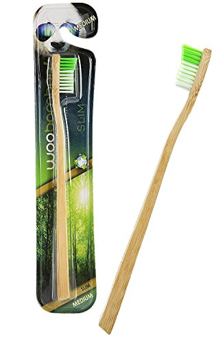 woobamboo! Bambus Zahnbürste - schmaler Handgriff mittelharte Borsten / standard bristle