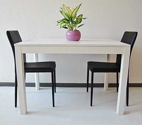 Tavolo allungabile in legno 110>160x70 H77 cm Giove Bianco ...