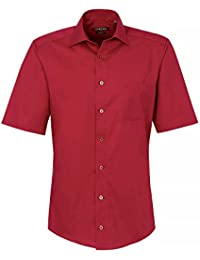 CASAMODA Herren Businesshemd 008500 Kurzarm bügelfrei 100% Baumwolle - Slim Fit