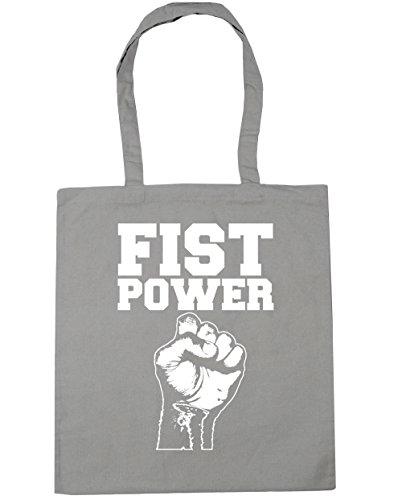 hippowarehouse-fist-power-poder-del-puno-bolso-de-playa-bolsa-compra-con-asas-para-gimnasio-42cm-x-3