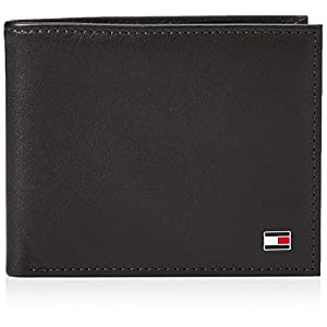 Tommy Hilfiger Men's Eton Mini CC Wallet Folder, 11 x 9 x 2 cm Black Size: 11x9x2 cm (B x H x T)