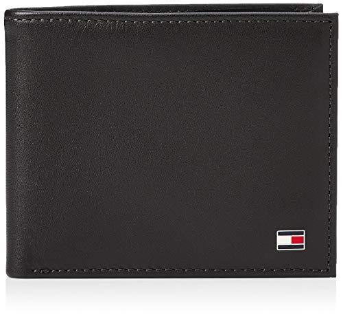 Tommy Hilfiger Herren Eton Mini CC Wallet Geldbörsen, Schwarz (Black 002), 11x9x2 cm