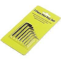 Manyo nuevo 7pcs 0.7mm-3mm Mini Hexágono Llave ajustable Hex Allen juego de llaves de destornillador con llave–Estuche de herramientas