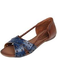 Catwalk Blue Flat Sandals