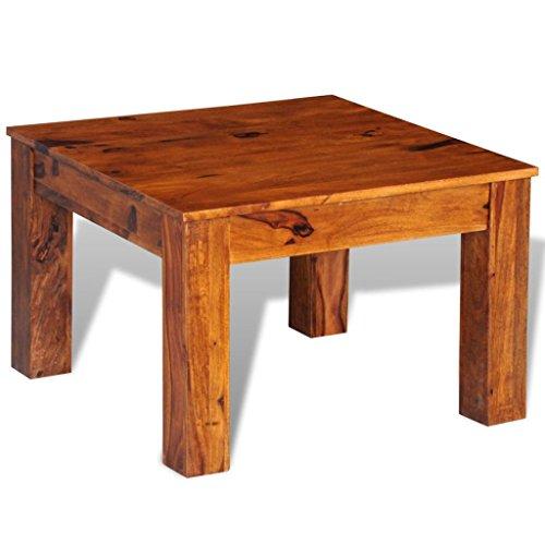 vidaXL Table Basse carrée en Palissandre Massif 60 x 60 x 40 cm Table de Salon