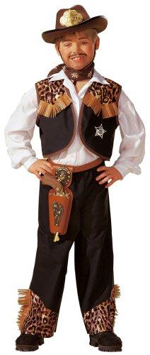 89-002 - - Cowboy Anzug Größe 140 (Größeninformation auf Verpackung: 10 - 12 years, T 4, 144 cm) (Cowboy Anzüge)