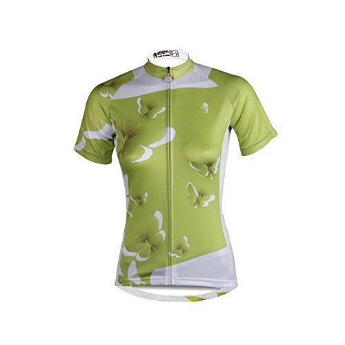 hebike Schmetterling grün Damen Radtrikot Fahrrad Short Sleeve Jersey Top + Short Set/Fahrrad Shirt Anzug, Jungen Herren Kinder, Jersey