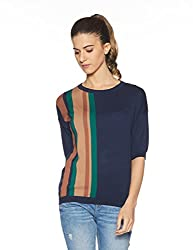 United Colors of Benetton Womens Cotton Pullover (17A1092D9038I902XS_Multi-coloured)