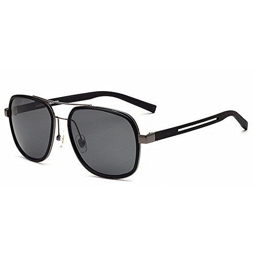 Lhomey-gl Hochwertige Exquisite Herren Fahren Sonnenbrille UV-Schutz Metallrahmen umrandeten Sonnenbrillen Sport - Brille (Farbe : Silber)