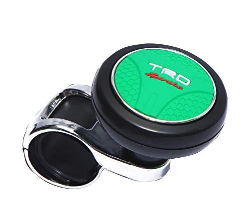 Bouton accessoire de volant de voiture de volant de voiture de poignée de puissance de silicium de platine pour le véhicule de voiture (vert)
