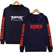 HAMIQI Sudadera con Capucha del Nombre común de Justin Bieber Justin Bieber