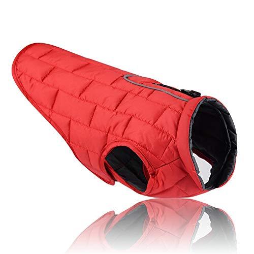 Herbst-und Winter-Haustier-Kleidung Reflektierende wasserdichte Hundekleidung - warmes doppelseitiges kann tragen, Taille justierbare elastische - Welpen Bauch Baby Kostüm