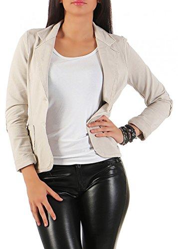 Damen Blazer Vintage Style, mit Taschen ( 545 ), Farbe:Beige, Blazer 1:42 / XL