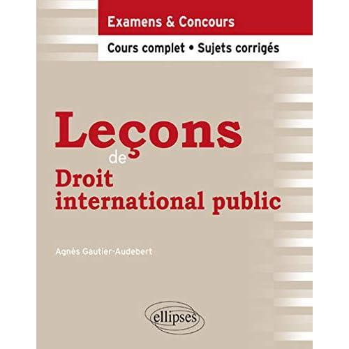 Leçons de Droit international public