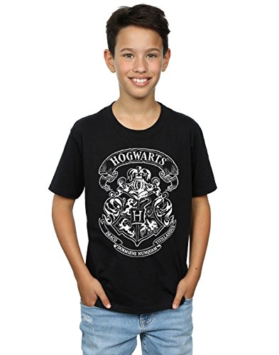 HARRY POTTER Jungen Hogwarts Crest T-Shirt 9-11 Years Schwarz