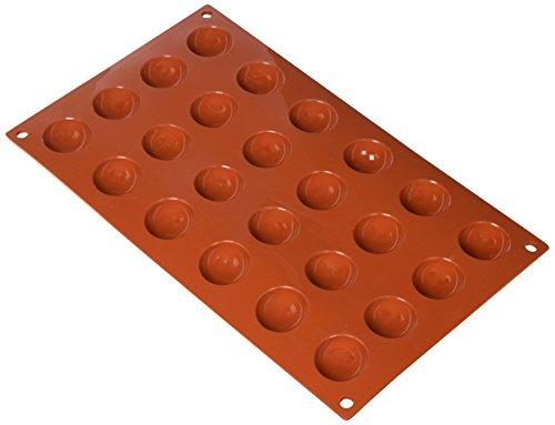 Stampo in silicone nr.24 semisfere ø30 mm h 15 mm silikomart (delizie - semifreddi - dolci - cioccolata))