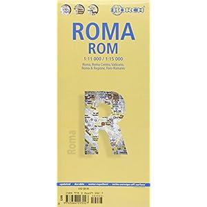 Roma, plano callejero plastificado. Escala 1:11.000/1:15.000. Borch. (Borch Map)